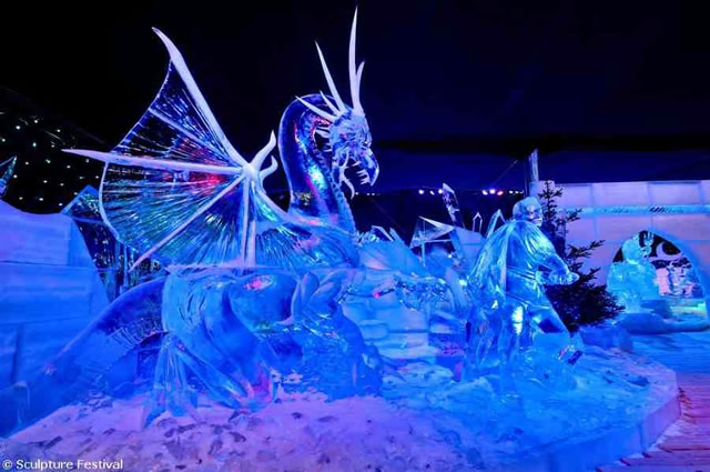 Esculturas de hielo (Brujas)