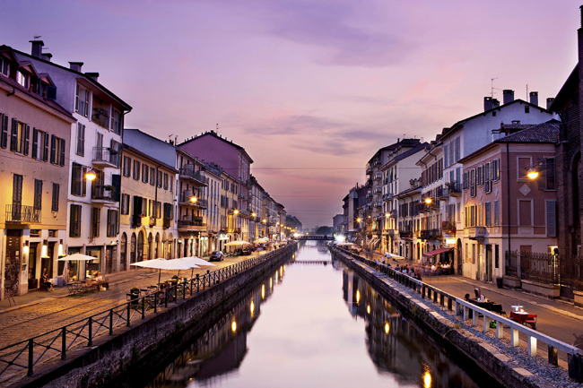 The Naviglio Grande is a canal in Lombardy, northern Italy, joining the Ticino river near Tornavento to the Porta Ticinese dock, also known as the Darsena, in Milan